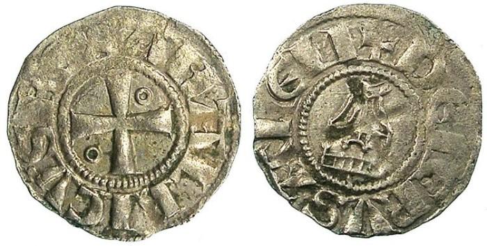 Ancient Coins - CRUSADER.JERUSALEM.Amaury AD 1163-1174.Bi.Obol.Type 5.