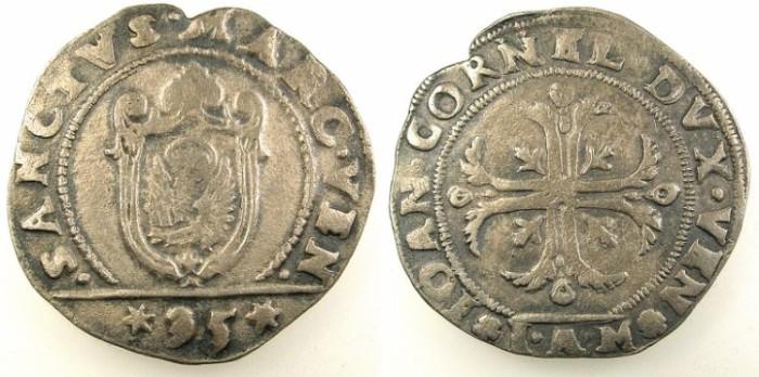 Ancient Coins - ITALY.VENICE.Giovanni Corner I AD 1624-1629.AR.Quarto di Scudo.