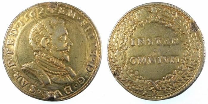 Ancient Coins - ITALY.SAVOY.Emmanuel Filiberto 1553-1580.AR.Lira 1562.Chambery.