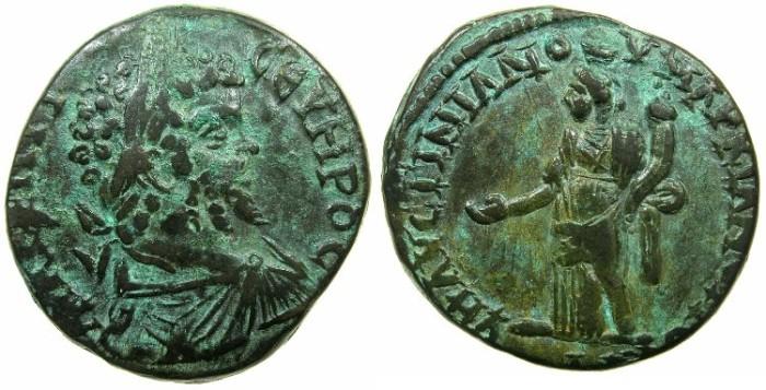 Ancient Coins - MOESIA INFERIOR.MARCIANOPOLIS.Septimius Severus AD 193-211.AE.26mm.~#~.Homonia standing.