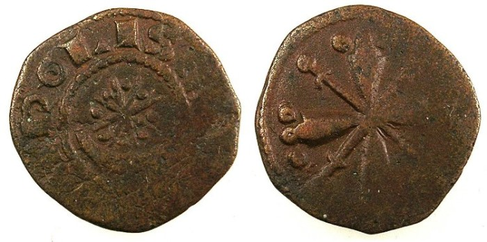 Ancient Coins - CRUSADER.County of Tripoli.Raymond III AD 1152-1187.Anonymous issue.AE.Fraction.Type 3
