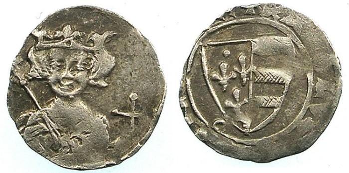 Ancient Coins - HUNGARY.Karl Robert 1307-1342.AR.Denar