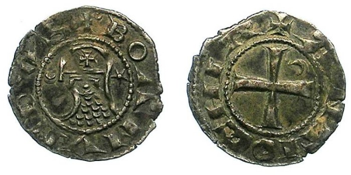 Ancient Coins - CRUSADER.Antioch.Bohemond III or IV c.1163-1233.Bi.Denier.