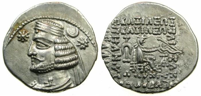 Ancient Coins - PARTHIA.Orodes II 57-38 BC.AR.Drachma.Mint of EKBATANA.
