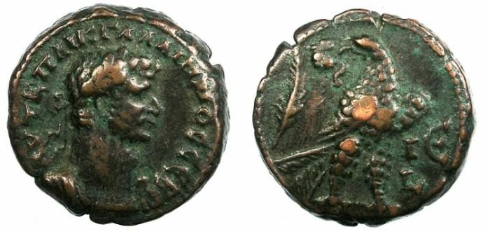 Ancient Coins - EGYPT.ALEXANDRIA.Gallienus AD 253-268.Bi.Tetradrachma.Eagle.