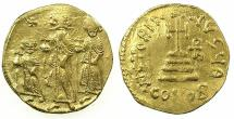 Ancient Coins - BYZANTINE EMPIRE.Heraclius AD 610-641 with Heraclius Constantine Augustus from AD 613 and Heraclonas Augustus from AD 638.AV.Solidus.Mint of CONSTANTINOPLE. Obverse anepigraphic.