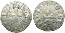 World Coins - CRUSADER STATES.GREECE.Pincipality of ACHAIA.Philip of Taranto AD 1307-1313.Bi.Denier.Type 1.