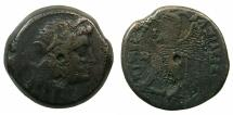 Ancient Coins - PTOLEMAIC EMPIRE.EGYPT.ALEXANDRIA.Ptolemy VI Philometer 180-145 BC.AE.26.4mm.~~~Bust of Isis.