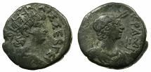 Ancient Coins - EGYPT.ALEXANDRIA.Nero AD 54-68.Billon Tetradrachm, struck AD 65/66 .~#~.Bust of Alexandria.