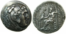 Ancient Coins - MACEDON.Alexander III The Great 323-326 BC.AR.Tetradrachm, unknown mint.~#~ Very artistic style