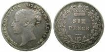 World Coins - CYPRUS.Bristish Administration.GB Sixpence 1878 die 6,error DRITANNIAR for BRITANNIAR.