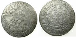 World Coins - POLAND.Sigismund III Waza AD 1587-1632.AR.Ort ( 1/4  Thaler ) 1624. 4 over 3. Mint of GDANSK.