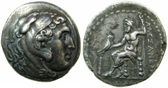 Ancient Coins - MACEDON.Alexander III The Great 323-326 BC.AR.Tetradrachm, unknown mint in CYPRUS.~#~ Very artistic style