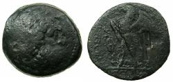 Ancient Coins - PTOLEMAIC EMPIRE.CYPRUS, unknown location.Trident countermark on Diobol of Alexandria under Ptolemy II.