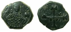Ancient Coins - BYZANTINE EMPIRE.Manuel I Comnenus AD 1143-1180.AE.Half Tetarteron.Uncertain Greek mint.