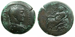 Ancient Coins - EGYPT.ALEXANDRIA.Hadrian AD 117-138.AE.Drachma.struck AD 131/32.~#~.Nilus reclining, crocodile on rocks.