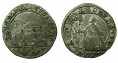 World Coins - ITALY.VENICE.Alvise IV Mocenigo  AD 1763-1778.AR.15 Soldi.1777.