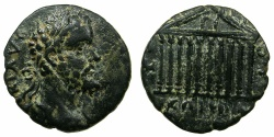 Ancient Coins - SYRIA.COELE-SYRIA.HELIOPOLIS. Septimius Severus AD 193- 211.AE 24.9mm.~#~Decastyle facade of the Temple of Jupiter Heliopolitanus.