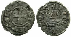 World Coins - CRUSADER.Frankish Greece.Dukes of ATHENS.William I AD 1280-1287 or Guy II AD 1287-1308.Billon Denier.Variety A8