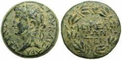 Ancient Coins - SYRIA.MOPSUS.Tiberius AD 14-37.AE.24.6mm.****ONLY ONE EXAMPLE CITED IN RPC I ***** EXTREMELY RARE *****