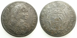 World Coins - ITALY.NAPLES.Charles VI H.R.E and King of Naples 1711-1734.AR.Mezzo Ducato ( 5 Carlini ) 1715.****RARE***