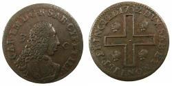 World Coins - ITALY.SARDINIA.Carlo Emanuelle III 1730-1773.AE.3 Cagliaresi.1st Type.1732.Mint of TURIN. ***RARE ***