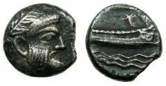 Ancient Coins - PHOENICIA.ARADOS.Uncertain king.AR.Stater circa 370-346 BC. Detailed portrait of Baal.