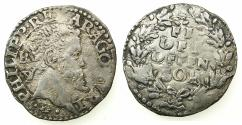 World Coins - ITALY.Kingdom of Naples and Sicily.Philip II 1554-1598, 2nd period King of Spain and Naples-Sicily 1556-1598.AR. Carlino N.D.Mint of NAPLES.
