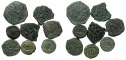Ancient Coins - BYZANTINE EMPIRE.SICILY. Group eight copper coins. Mints of Syracuse and Catania.