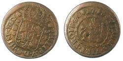 World Coins - SPAIN.Philip V 1700-1747.AE.4 Maravedis 1743.Mint of Segovia.(27mm)
