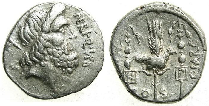 Ancient Coins - ROME.REPUBLIC.Cn Nerius, L Lentulus and Claudius Marcellus 49 BC.AR.Denarius.Mint of ROME.
