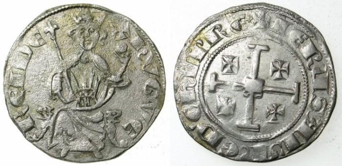 Ancient Coins - CRUSADER.CYPRUS.Hugh IV AD 1324-1359.AR.Gros Grand.