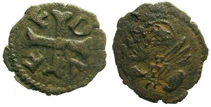 Ancient Coins - ITALY.VENICE.Francesco Foscari AD 1423-1457.AE.Piccolo (or bagattino ) for BRESCIA.