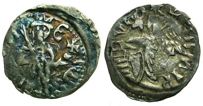 Ancient Coins - ROMANIA.Voivodes of WALLACHIA.Mircea I cel Batran AD 1386-1418.Bi.Denier.