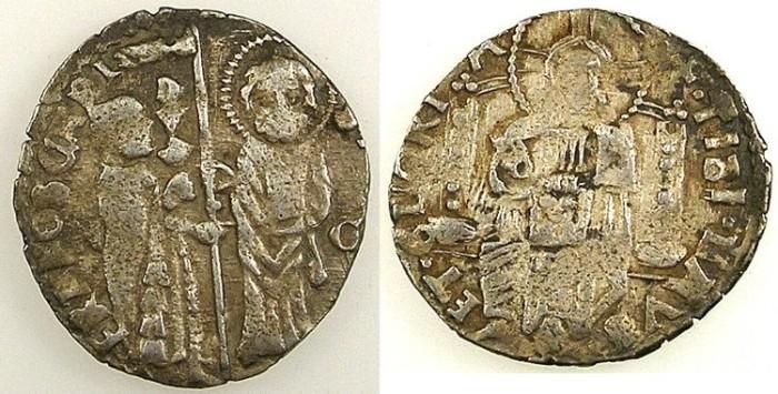Ancient Coins - ITALY.VENICE.Francesco Foscari AD 1423-1457.AR.Grosso.