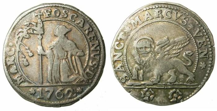 Ancient Coins - ITALY.VENICE.Marco Foscarini 1762-1763.Bi.15 Soldi 1762.