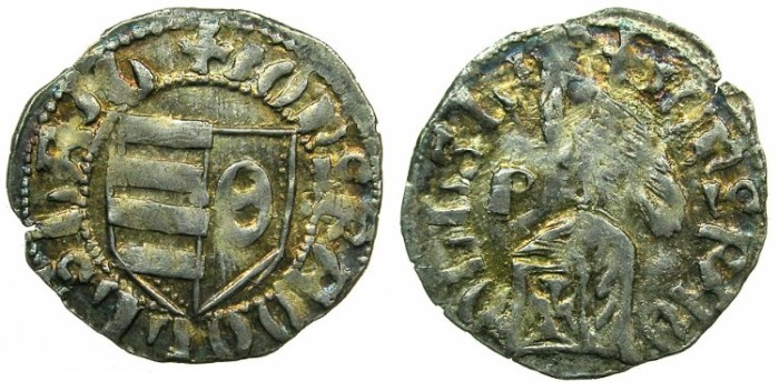 World Coins - ROMANIA.VOIVODES OF WALLACHIA.Radu I 1377-1383.Bi.Denier.