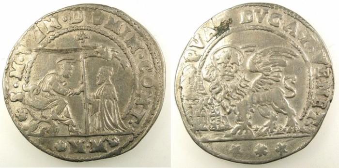 Ancient Coins - ITALY.VENICE.Domenico Contarini 1659-1675.AR.Quarto di Ducato.