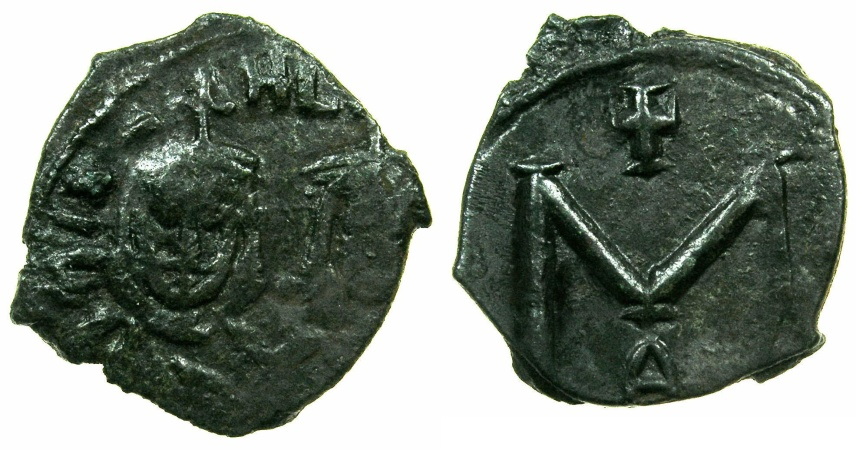Ancient Coins - BYZANTINE EMPIRE.SICILY.Michael II AD 820-829 with Theophilus associate from AD 821.AE.Follis.Mint of SYRACUSE
