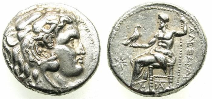Ancient Coins - LYDIA.SARDES.Alexander III 336-323BC.AR.Tetradrachm; posthumus issue.