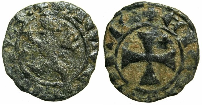 Ancient Coins - CRUSADER STATES..CYPRUS.James I AD 1382-1398. Billon Denier