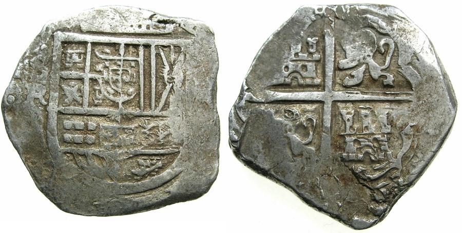 SPAINPhilip IV 1621 1665ARCob 8 Reales Mint Of SEVILLE