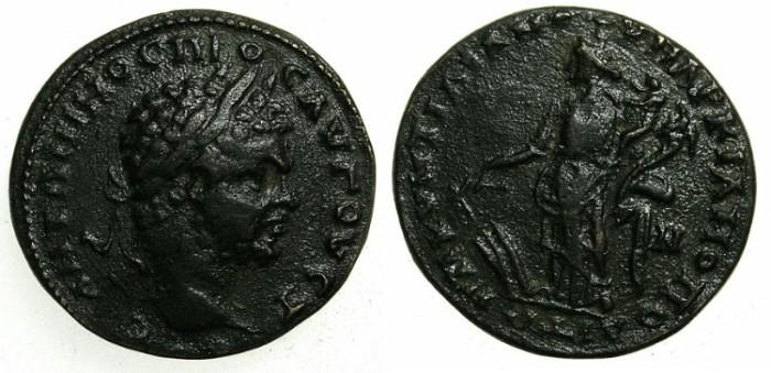 Ancient Coins - MOESIA INFERIOR.MARCIANOPOLIS.Caracalla AD 198-217.AE.22.Tyrche.Roman legate Quintilianus