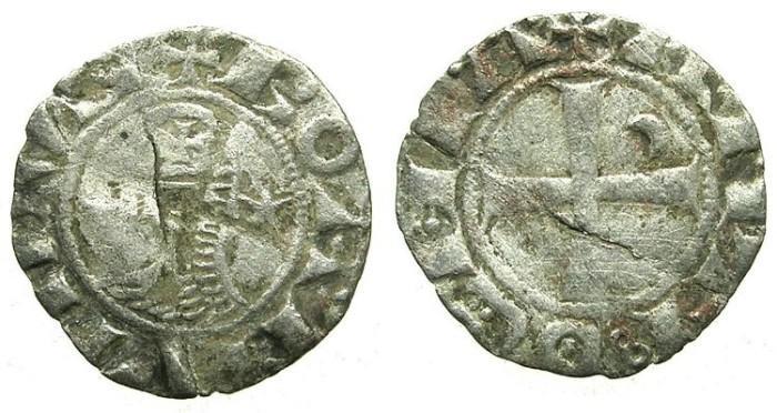 Ancient Coins - CRUSADER.Principality of ANTIOCH.Bohemond III or IV c.1163-1233.Bi.Denier.class E.