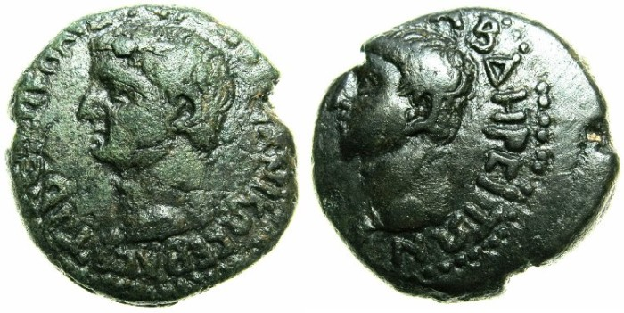 Ancient Coins - THRACE.ABDERA.Claudius AD 41-54.AE.20mm.****Very rare, only 5 examples recorded in RPC I.****
