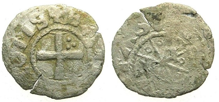 Ancient Coins - CRUSADER.TRIPOLI.Bohemond I (IV) AD 1187-1233.Bi.Denier.Type 5.