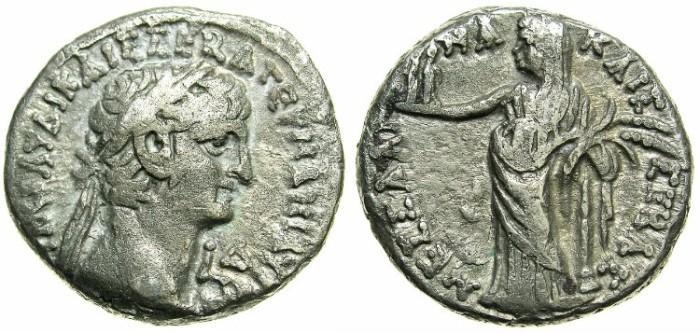Ancient Coins - EGYPT.ALEXANDRIA.Claudius AD 41-54.Billon Tetradrachma, struck AD 43/44.~#~.Messalina as Demetra.