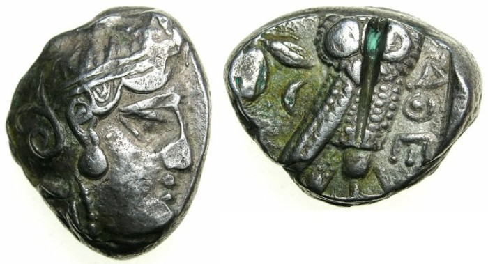 Ancient Coins - ATTICA.ATHENS.After 449 BC.AR.Tetradrachm.~~~Athena.~#~.Owl.