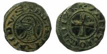 World Coins - CRUSADER STATES.Principality of ANTIOCH.Bohemond IV 2nd period 1219-1233 or Bohemond V 1233-1251Bi.Denier.class O.