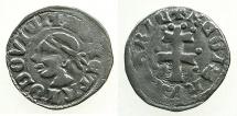 World Coins - HUNGARY.Louis I AD 1342-1382.AR.Dinar.~~~Moors head.